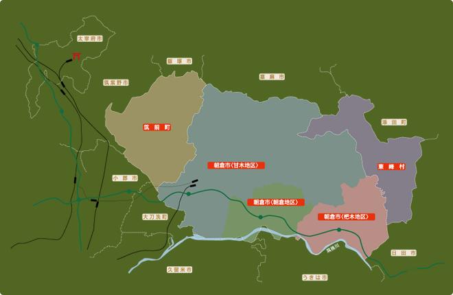 朝倉周辺地図
